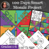 100 Days of School Mosaic - Interactive Coloring Sheets -