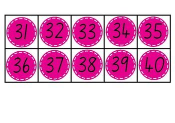 100 Days of School Numbers