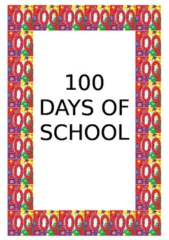 100 Days of School Poster