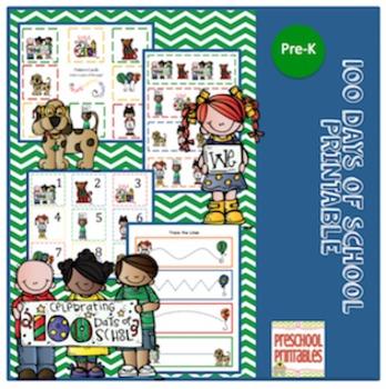 100 Day's of School Printable