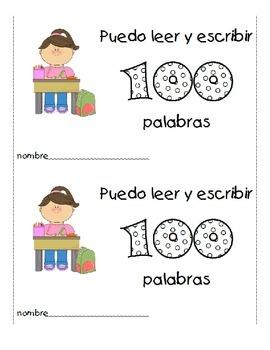 100 Days of School - Puedo leer y escribir 100 palabras