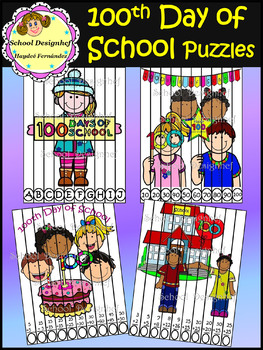100 Days of School Puzzles - Letters, Numbers & Additions (School Designhcf)