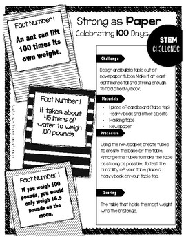 100 Days of School STEM Challenges