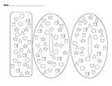 100 Days of School Shape Hunt and Graph