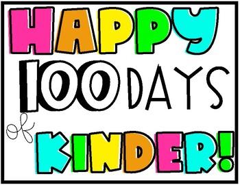 100 Days of School Sign