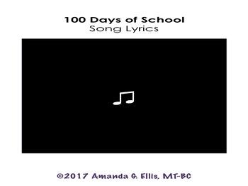 100 Days of School Song Lyrics