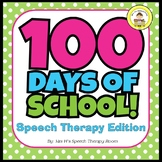 100 Days of School Speech Therapy Edition