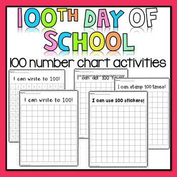 100 Days of School - Stamp, Write, Dot, Stickers