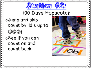 100 Days of School Stations