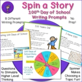 100 Days of School Story Spinner - Writing Prompts and Dis