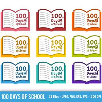 100 Days of School Svg, 100 Days of School Vector, 100 Days of School Clipart