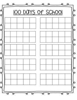 100 Days of School Ten-Frame