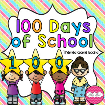 100 Days of School Themed Game Board