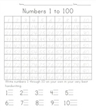 100 Days of School: Tracing Numbers 1 to 100