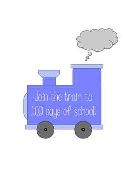 One Hundred Days of School Train Display