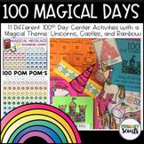 100th Day of School (Unicorn) 11 Activities, Kindergarten