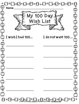 100 Days of School Writing Activities!