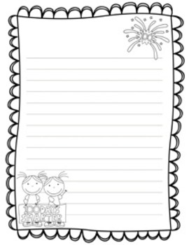 100 Days of School Writing Papers - Black and White - 3 Styles