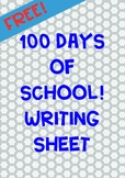 100 Days of School Writing Printable