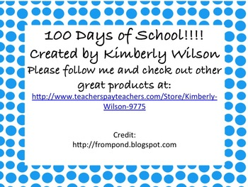 100 Days of School Writing Prompt