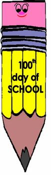 100 Days of School bookmarks