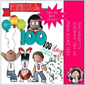 100 Days of School clip art - Mini - by Melonheadz