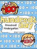 100 Days of School for Preschool/Kindergarten!