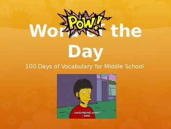 Updated and Growing! 140 Days of Vocabulary for Middle School