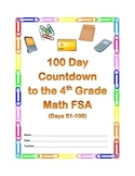 100 Day Countdown to the Math FSA - 4th Grade (Days 51-100)