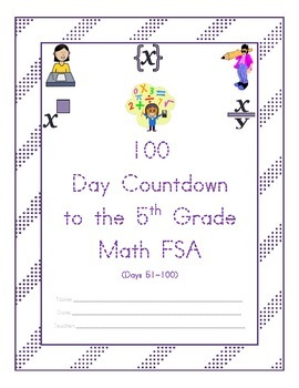 100 Day Countdown to the Math FSA - 5th Grade (Days 51-100)