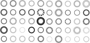 100 Decorative Circles, Vector Art (Premium Package)