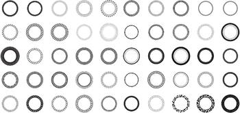 100 Decorative Circles, Vector Art (Premium Package)
