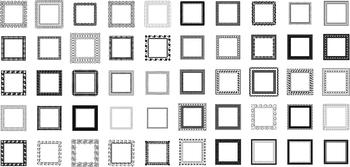100 Decorative Squares, Vector Art (Premium Package)