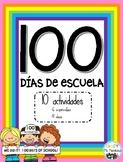 100 Dias De Escuela - Actividades En Español