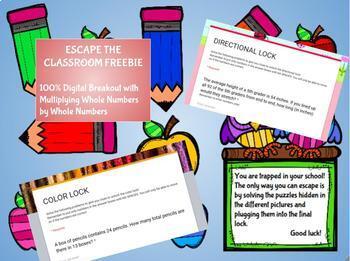 Digital Breakout - Escape the Classroom Freebie