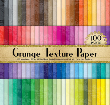 100 Distressed Scratch Grunge Texture Digital Papers