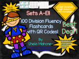 100 Division Fluency Flashcards with QR Codes!