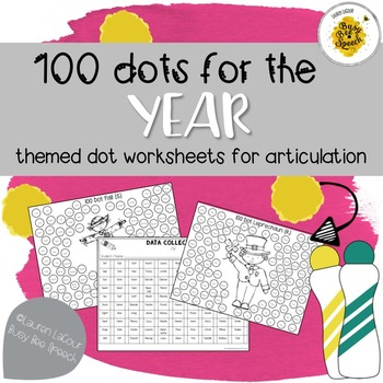100-Dot Articulation Print & Go Worksheets for... by Lauren LaCour ...