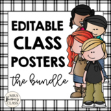 100 EDITABLE Class Posters / Charts featuring Melonheadz K