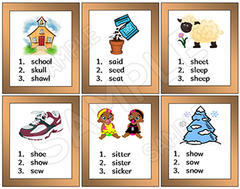 Literacy Task Cards - Spelling - Word Recognition