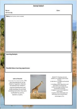 100 EYLF Learning Story Templates - MEGA PACK!