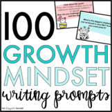 100 Editable Growth Mindset Writing Prompts Slides | Growth Mindset Activities