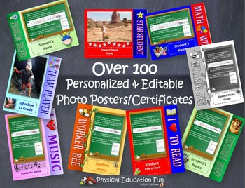 100 Editable Photo Poster and Certificates