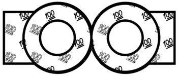 100 Emoji 100th Day of School Craft Activities - Crowns, Glasses, Pennants