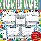 Character Award Certificates - Blue - 100+