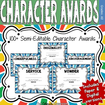 100 End of Year Character Awards - Blue Version