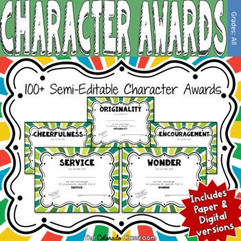 100 End of Year Character Awards - Green Version