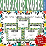 Character Award Certificates - Green - 100+
