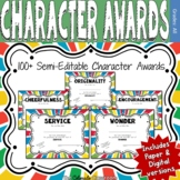 Character Award Certificates - Multi-Color - 100+