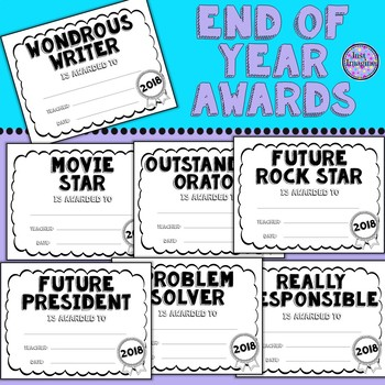 100 End of Year/Year End Awards/Fun Awards - Certificates - Black ...